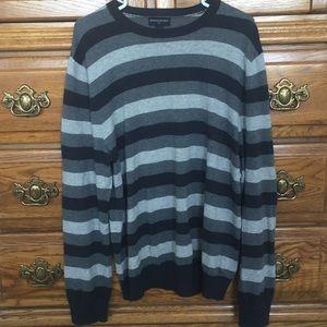 Banana Republic Gray Striped Sweater